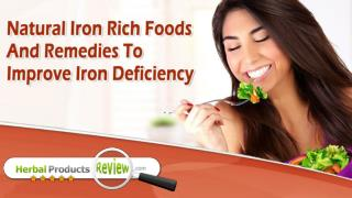 Natural Iron Rich Foods And Remedies To Improve Iron Deficiency