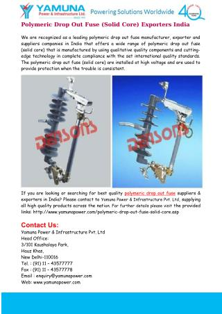 Polymeric Drop Out Fuse (Solid Core) India