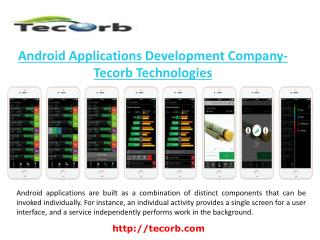 Android Applications Development Company-Tecorb Technologies