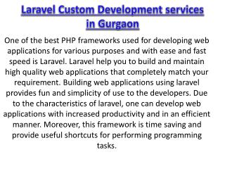 Laravel custom development services in gurgaon