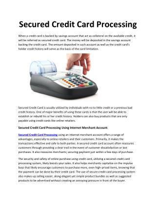 Secured Credit Card Processing