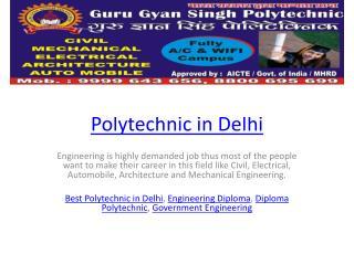 Polytechnic in Delhi