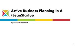 Active Business Planning In A Lean Startup - Entroids