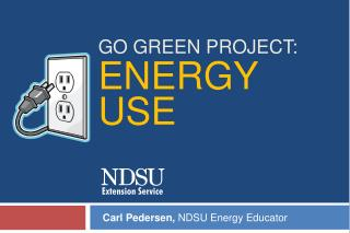 Go Green Project:  Energy Use
