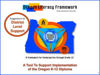 A Tool To Support Implementation  of the Oregon K-12 Diploma