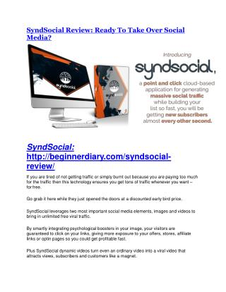 SyndSocial review - 65% Discount and FREE $14300 BONUS