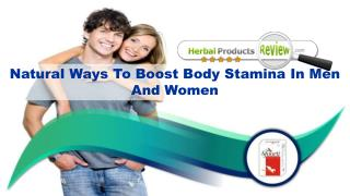 Natural Ways To Boost Body Stamina In Men And Women