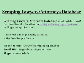 Scraping Lawyers/Attorneys Database