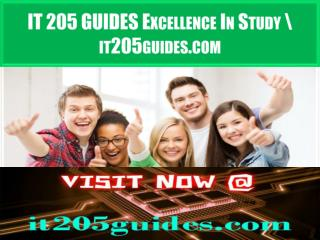 IT 205 GUIDES Excellence In Study \ it205guides.com