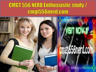 CMGT 556 NERD Enthusiastic study / cmgt556nerd.com