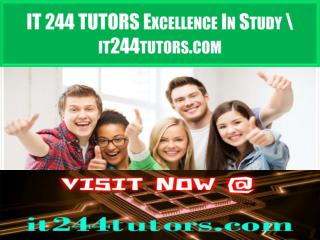 IT 244 TUTORS Excellence In Study \ it244tutors.com