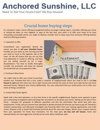 Crucial home buying steps