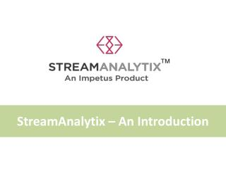 StreamAnalytix | Real-Time Big Data Streaming Analytics,  Apache Spark Streaming