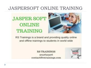 Jasper Soft Online Training Hyderabad