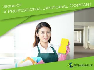 The Signs of a Professional Office Cleaning Company