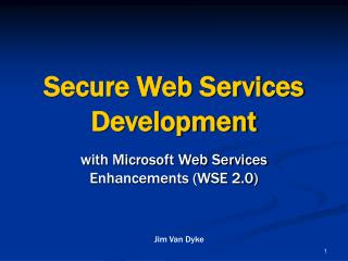 Secure Web Services Development