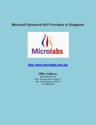 Microsoft Dynamics NAV Providers in Singapore