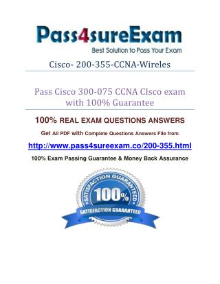 Pass4sure 200-355 Exam Question