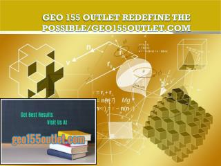 GEO 155 OUTLET Redefine the Possible/geo155outlet.com