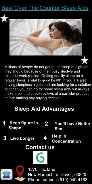 Best Over The Counter Sleep Aids