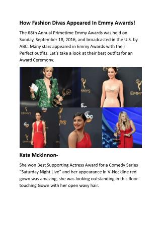 How Fashion Divas Appeared In Emmy Awards!