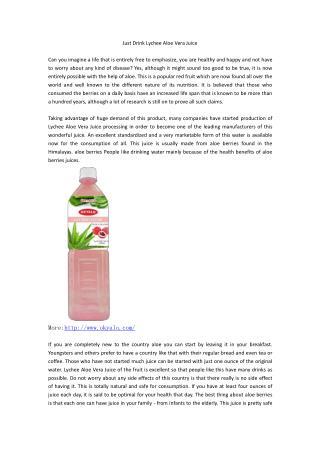 Just Drink Lychee Aloe Vera Juice