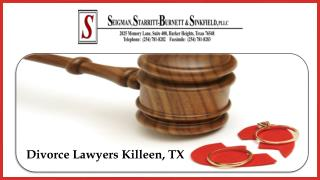 Divorce Lawyers Killeen, TX