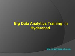 Big Data Analytics Training in Hyderabad