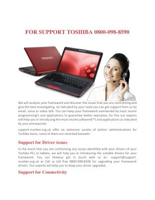 Toshiba support