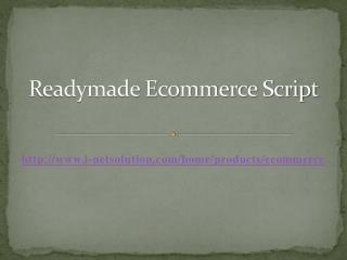 Readymade Ecommerce Script – i-Netsolution
