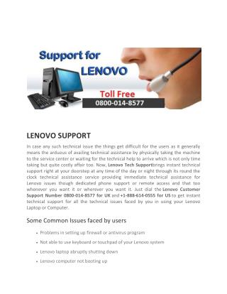 lenovo laptop support