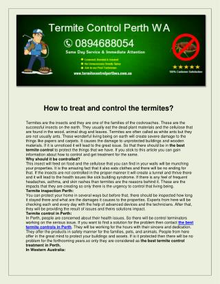 Termite Control Perth WA