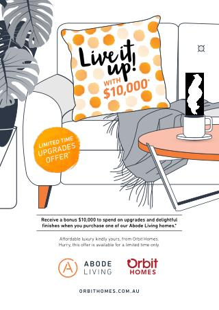 Get $10,000 Bonus with Abode Living Homes at Orbit Homes