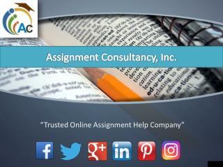 Get Online Assignment Help Online - AssignmentConsultancy.com
