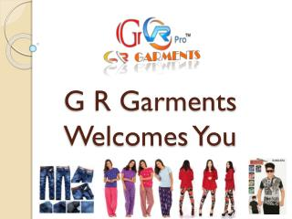 G R Garments – Boys Wear Supplier – Girls Wear Manufacturer – Ladies Wear Exporter