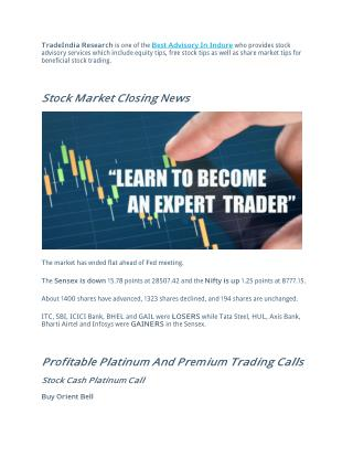 Profitable Platinum and Premium Trading Calls