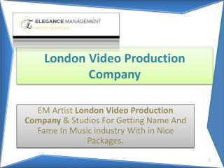 EM Artist London Video Production Company