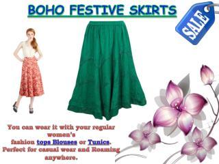 Boho Festive Skirts