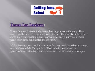 Best Tower Fan Reviews