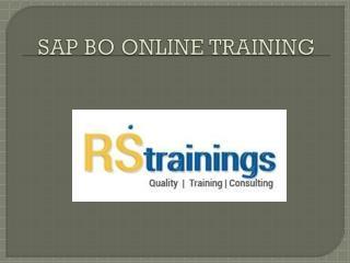 SAP BO online training course content