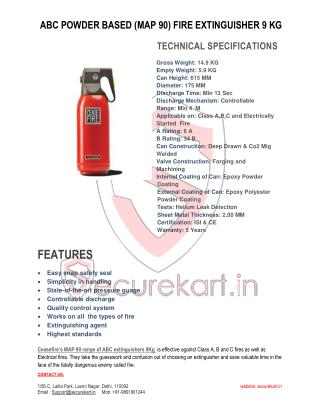 Ceasefire  ABC POWDER BASED (MAP 90) FIRE EXTINGUISHER 9 KG