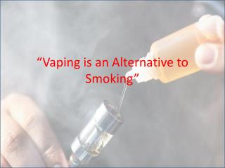 How Vaping is different from Smoking?