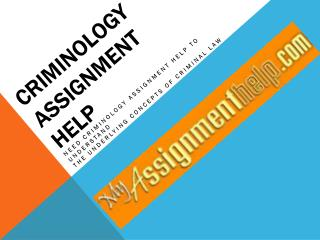 Qualitative Criminology Assignment Writing Service Only On MyAssignmenthelp.com