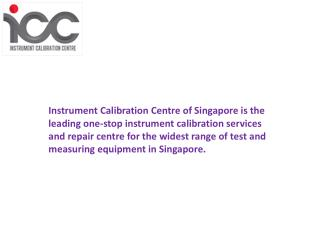 Calibration Services in Singapore