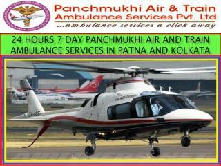24 Hours 7 Days  Panchmukhi Air and Train Ambulance Services in Patna and Kolkata