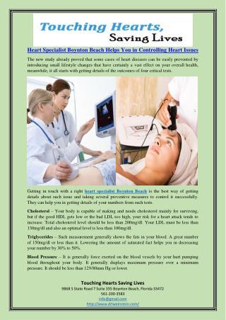 Heart Specialist Boynton Beach Helps You in Controlling Heart Issues