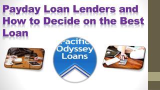 Best Payday Loan Lenders