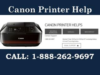 Canon Printer Setup help 1-888-262-9697