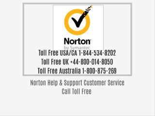 Norton Customer Support Toll Free 1-844-534-8202