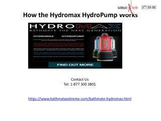 How the Hydromax HydroPump Works